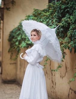 белый зонт